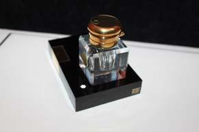 Montblanc Meisterstück Le Grand Kolben Füller Desk mit Blei Kristall Fass