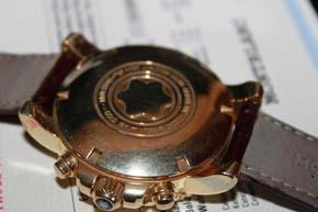 Montblanc Meisterstück 750er Gold Sport Chronograph, OVP & Papiere