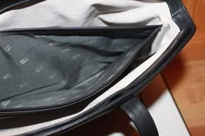 Montblanc Meisterstück Platin große Tasche / Hand Tasche Leder in schwarz ca. 40 x 25 x 10cm