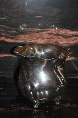 W.T. Binder WTB Vase oder Kühler Hammerschlag 835er Silber ca. 22 x 18cm & 924g