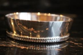 WTB antiker Flaschenhalter Untersetzer 925er Sterling Silber ca. 10 x 3cm & 90g