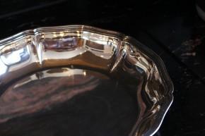 WTB riesige Obst Schale Platte 800er Silber ca. 29cm Durchmesser Höhe 5,5cm & 554g